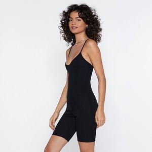 New Nasty Gal Black Unitard/Romper - size 4
